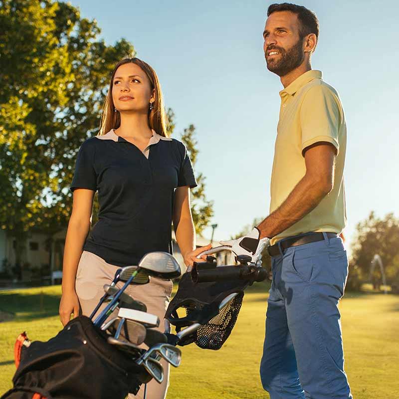 Full range golf clothing available online or instore